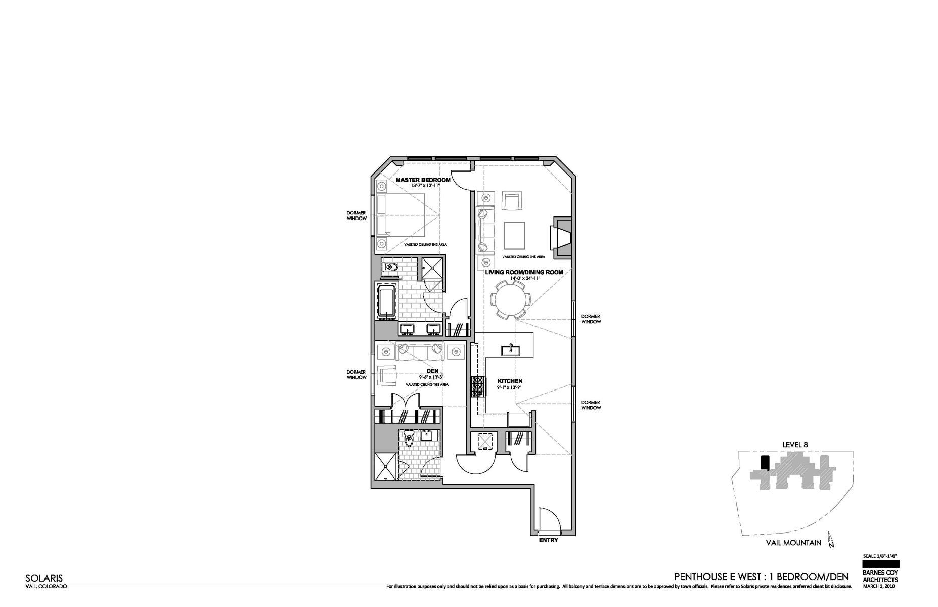 Floor Plan for A cozy and luxurious vacation condo in the epicenter of the incredible Vail Village experience.
